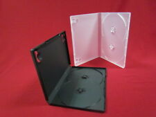 100 CLEAR 14MM DOUBLE 2 DVD BOX CASES OVERLAP HUB BL34