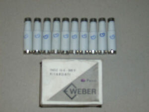 10 Sicherungen E16 16A 500V träge Fa. Weber neu