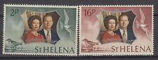 St. Helena 1972 ** Mi.258/59 Queen Elisabeth II & Prince Philip [sq3575]