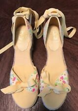Lilly Pulitzer espradille wedge sandle, size 7M