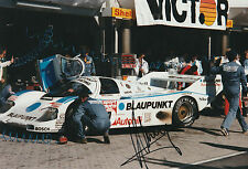 #7 Blaupunkt Porsche 956 Nurburgring 1986 firmado Klaus Ludwig período fotografía