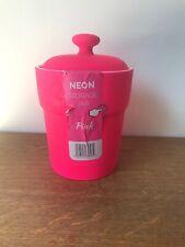 Neon Storage Jar Soft Touch Pink
