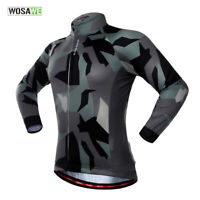 Cycling Jersey Long Sleeve Jacket Road MTB Bike Shirts Quick-Drying Elastic Tops