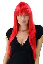 Séduisant Devil: longue perruque, gaudy rouge, lisse Wig NEUF YZF-4028-113
