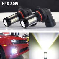 H10 9145 9140 80W LED Fog Driving Light DRL Bulbs For Ram 1500 2500 3500 2009-18
