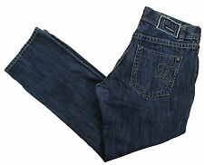 MEK DNM Washington Cotton Jeans 38x32 Slim Straight Medium Dark Wash Button Fly