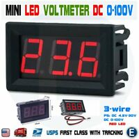 DC 0-100V 3-Wire Mini Digital Voltmeter Tester Module Red LED Display Panel 0.56