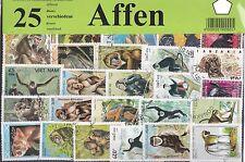 25 Briefmarken Säugetiere, Affen,Gorilla,Schimpansen, Orang-Utan,monkey 'Affe