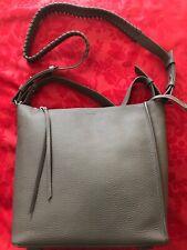 ALLSAINTS KITA StormGrey Calfskin Leather Shoulder Convertible Crossbody Bag New