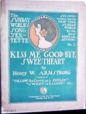 Kiss Me Goodnight Sweetheart, Antique Newspaper Suppl