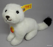 Steiff Wizzy Ermine Plush Weasel White 12cm 4.75in ID Button Tags 1986 -87 Vtg