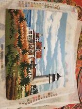 Finished needlepoint Piece Lighthouse