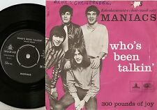 MANIACS WHOS BEEN TALKING & 300 POUNDS OF JOY DANISH 45+PS 67 MOD FREAKBEAT FUZZ