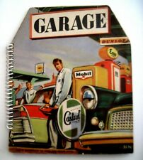 """Vintage Advertising Book for """"Mobil Gas"""" w/ Pop-out Pages to Form a Garage *"""