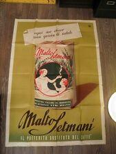 MALTO SETMANI Caffè vecchio manifesto affiche La Lito Milano poster