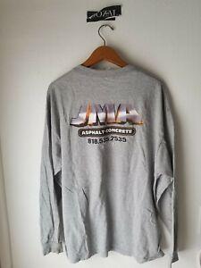 JMA CONSTRUCTION vintage rock band fog ye raf style tee shirt XL tattered drax $