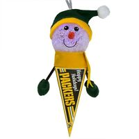 Green Bay Packers - Light-Up Snowman Pennant Christmas Ornament