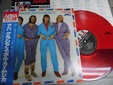 ABBA Japan RED VINYL LP with OBI, GRACIAS POR LA MUSICA