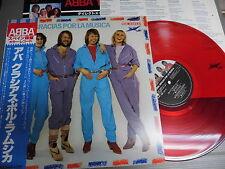 ABBA Japan RED VINYL LP with OBI, GRACIAS POR LA MUSICA