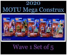 MEGA CONSTRUX Prince Adam Evil-Lyn Moss Man Stratos Skeletor MOTU Set Of 5 2020
