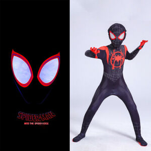 SpiderMan: Into the Spider-Verse SuperHero Costume Kids Miles Morales Cosplay