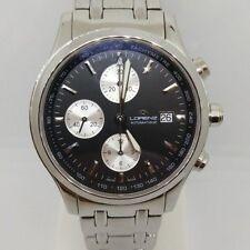 Orologio Uomo Lorenz Theatro Automatico Cronografo Swiss Made Rotondo In Acciaio