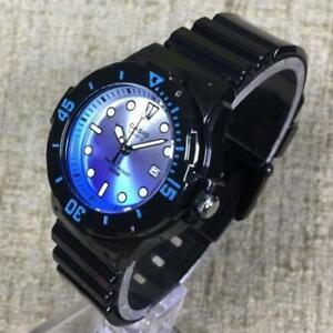 Casio LRW-200H-2E  Analog Ladies Round Dial Black Resin Strap Date Quartz Watch