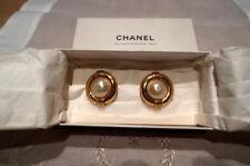 CHANEL Boucles d'oreilles clips VINTAGE HAUTE COUTURE Collections Années 70-80