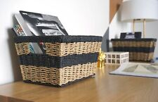 Modern Wicker Shelf Baskets (Set of 2) by Handcrafted 4 Home