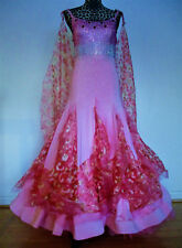 Ballroom dance dress, pink, size 7-8, stretchable