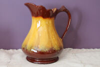 "BLUE MOUNTAIN POTTERY 'HARVEST GOLD' 8"" PITCHER JUG MARKED BMP CANADA"
