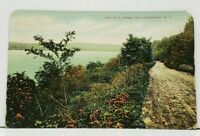 NY Lake Drive Otsego Lake Cooperstown New York Postcard I11