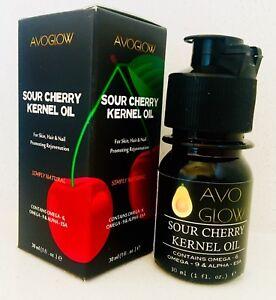 AvoGlow Sour (Tart) Cherry Kernel oil, wrinkle reduction, skin rejuvenation 30ml