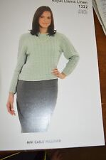 Plymouth Knitting Pattern 1322 Mini Cable Pullover