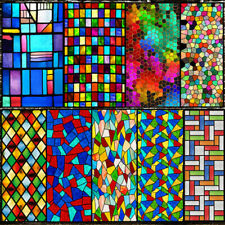 No Glue Static Window Door Sticker 3D Frosted Stained Glass Windows Film