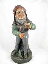 RARE JOHANN MARESCH POTTERY GNOME, MARKED JM, C1900 ORIGINAL FINISH.