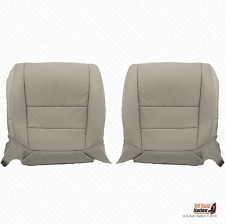 For 2008 Acura TL Driver & Passenger Bottom Perforated Leather Seat Cover Gray