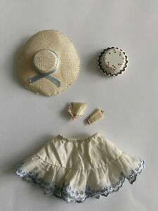 Vintage 1965 Skipper Outfit Items Happy Birthday #1919 Skirt Hat Cake