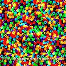 Granos de poni barril Plástico Surtido Colores Mezclados Craft pelo trenzado 600