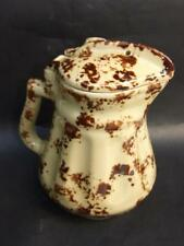 Antique Australian Sunshine Electrix -Electric Jug Mottled Brown on Cream 1930's