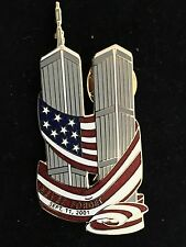 TWIN TOWERS SEPTEMBER 11 2001 9-11 2001 NEVER FORGET PINCRAFT PIN NEW