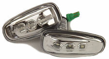 Eagle Eyes LED Side Lights Repeaters Chrome For Mercedes Benz C208 1997-2002
