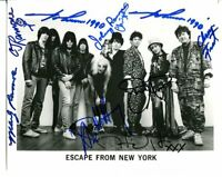 THE RAMONES - BLONDIE - TALKING HEADS -  ESCAPE FROM NEW YORK - SIGNED BY 9 E411