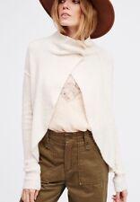 Free People Cascade Cardi Open Front Soft Wool Blend Cardigan Sweater M $128