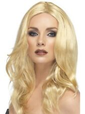 Blonde Long Wavy Superstar Wig Adult Womens Smiffys Fancy Dress Costume