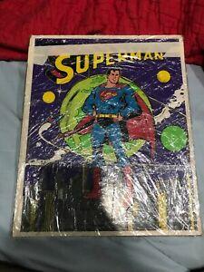 1976 Playskool Superman Wood Puzzle DC Comics 380-01 In Plastic