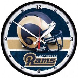 "Los Angeles Rams 12"" Round Wall Clock"
