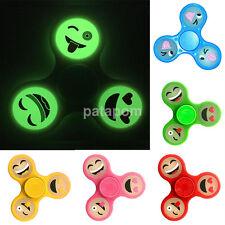 Funny Figet Spiner Hand Finger Tri Spinner Fidget Toy Focus 6 colors Emoji Relax