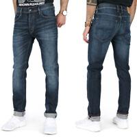 Diesel Mens Slim Tapered Fit Stretch Jeans Medium Blue Denim | Tepphar RFE03