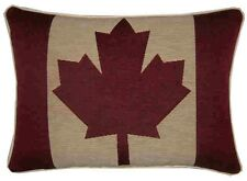 Canada Canadian Flag Oblong Woven Tapestry Cushion Cover